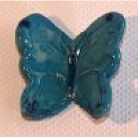Butterfly Blue Wings Standing Up 30 x 27mm mosaic inserts