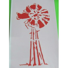 Windpomp Multi-Coloured Stencil Large  325x 200mm