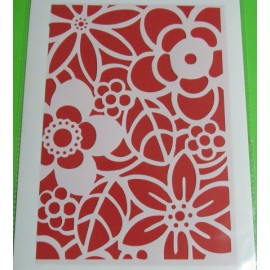 Flowers Stencil Multi-Coloured 2 Large 240 x 170