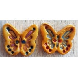 Butterfly Ocher 2 Medium 20 x 25mm mosaic inserts