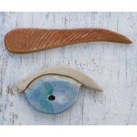 eye and eyebrow mosaic inserts