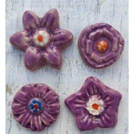 Flower bundle Purple mosaic inserts