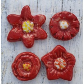 Flower bundle Red mosaic inserts