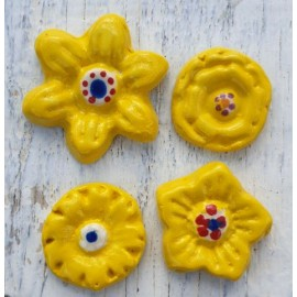 Flower bundle Yellow mosaic inserts
