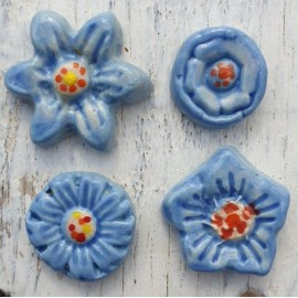 flower bundle Baby Blue mosaic inserts