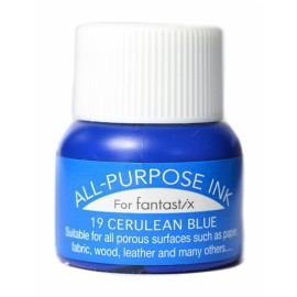 Tsukineko All Purpose ink Cerulean Blue