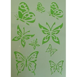 Butterflies stencil medium 240 x 170