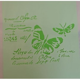 Butterfly words stencil large 320 x 320