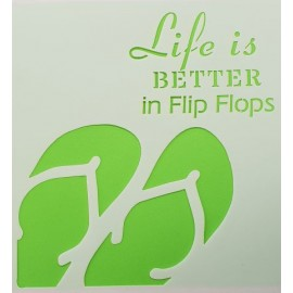 Life is better in flip Flops 2 Stencil 155 x 155