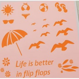 Life is better in flip Flops Stencil 155 x 155