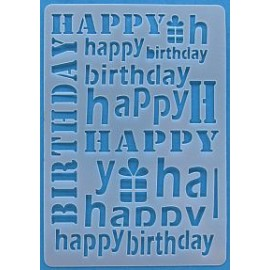 Happy Birthday Card Stencil 155 x 107