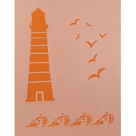 Lighthouse Stencil large 300 x 300