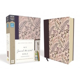 NIV Journal The World Bible (Pink Floral Cloth Hardcover)