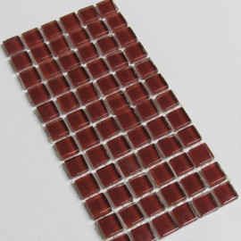 Crystal Glass Burnt Copper 10mm Mosaic Tiles