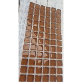 Crystal Glass Chestnut 10mm Mosaic Tiles