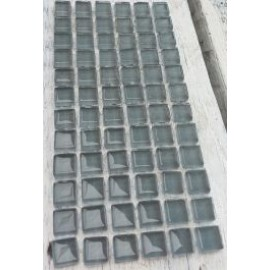 Crystal Glass Grey 10mm Mosaic Tiles