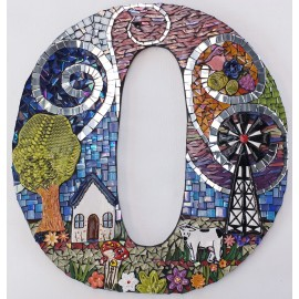 House Number 0 Mosaic Kit