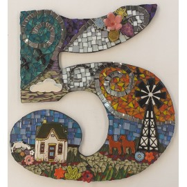 House Number 5 Mosaic Kit