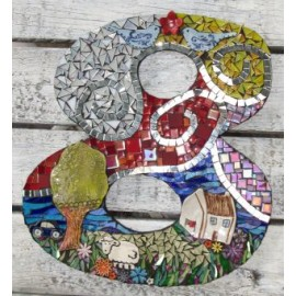 House Number 8 Mosaic Kit