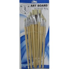 Art Board Flat Hog Hair12pcs