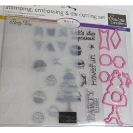 Couture Creations Party Time Embossing, Stamp & Cutting Dies