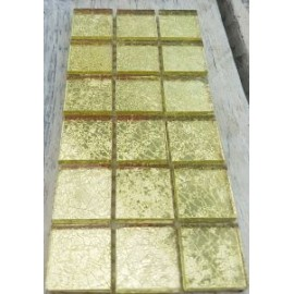 Crushed Ice Yellow Mosaic Tiles