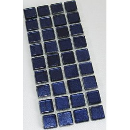 Gold Leaf Glass Royal Blue 15mm Mosaic Tiles