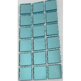 Coloured Mirror Baby Blue Mosaic Tiles