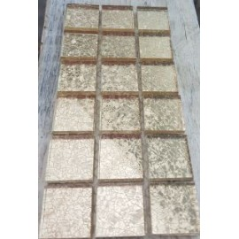 Crushed Ice Champagne Mosaic Tiles