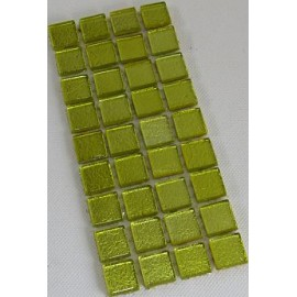 Gold Leaf GlassYellow 23mm Mosaic Tiles