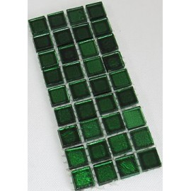 Gold Leaf Glass Dark Green 15mm Mosaic Tiles