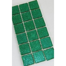 Glitter Glass Dark Green 23mm Mosaic Tiles