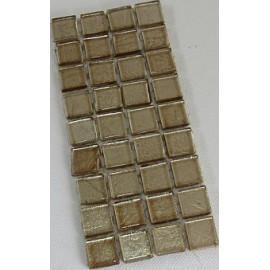 Gold Leaf Glass Ivory 15mm Mosaic Tiles