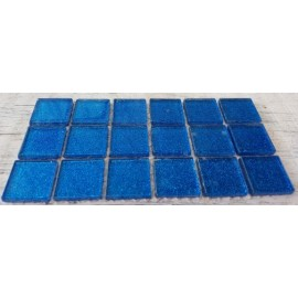 Glitter Glass Midnight Blue 23mm Mosaic Tiles