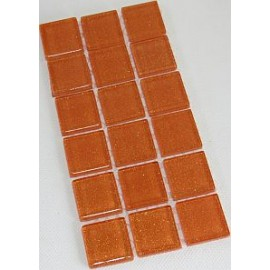Glitter Glass Orange 23mm Mosaic Tiles