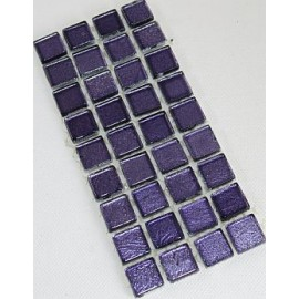 Gold Leaf Glass Lilac 15mm Mosiac Tiles
