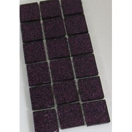 Glitter Glass Dark Purple 23mm Mosaic Tiles
