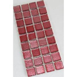 Gold Leaf Glass Soft Pink15mm Mosaic Tiles