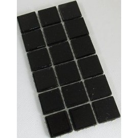 Glitter Glass Black 23mm Mosaic Tiles