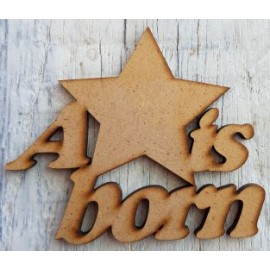 A Star is born 65 x 78mm Laser