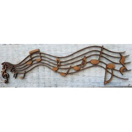 Music Notes 92 x 145mm Laser
