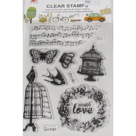 Clear Stamps Birdcage